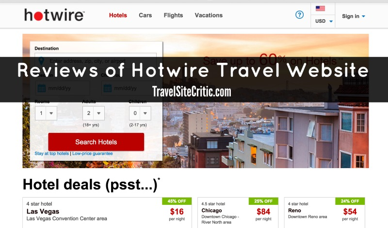 Reviews of Hotwire travel website