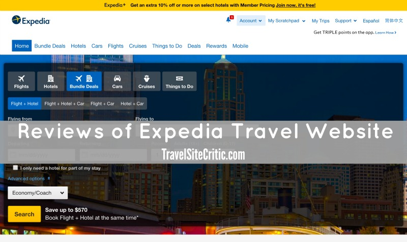 Reviews of Expedia Website