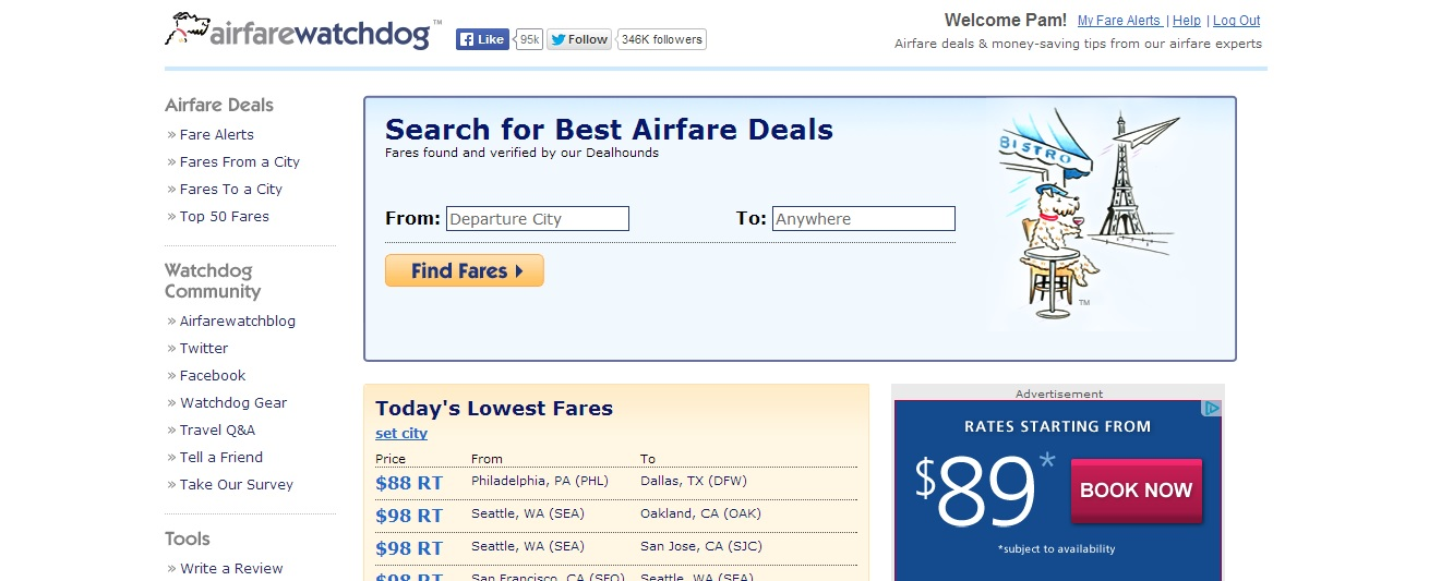 Airfare Watchdog Reviews
