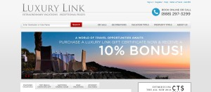 Travel Site Critic readers can now take 10% OFF your Luxury Link reservation with exclusive coupon code