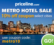 Additional 10% OFF Express Deals hotels in New York, San Diego and Chicago with Priceline coupon code!